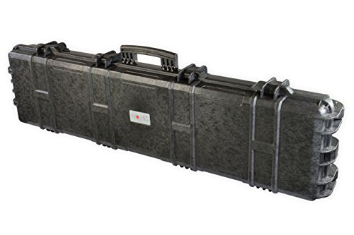 Nomis Military Gun Case 138x39x15cm Waterproof dusttight Black with 2 Wheels