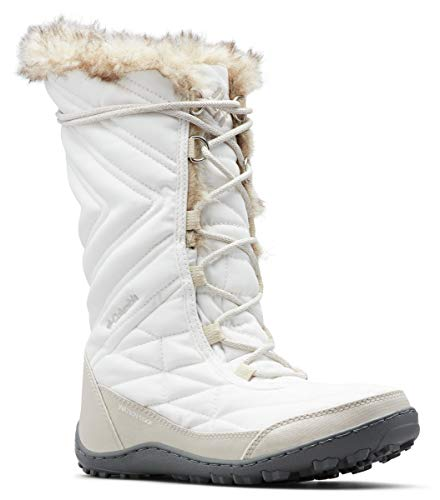 Columbia Women's Minx III Mid Calf Boot, sea Salt, Dark Stone, 7 Regular US