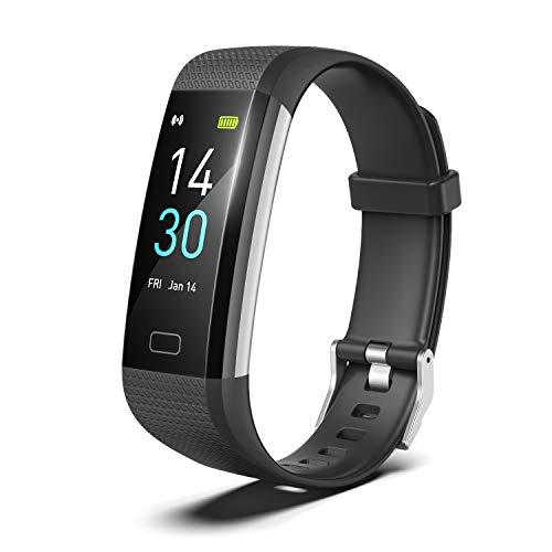 Showyoo Montre Connectée Femme Homme Bracelet Connecté Cardiofréquencemètre Podomètre Smartwatch IP68 Etanche Montre Sport GPS Tracker d'Activité Chronomètre pour iPhone Huawei Samsung Xiaomi