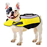 PETCUTE Dog Life Jacket Vest Life Jacket Dog Buoyancy Aid Swimming French Bulldog Float Vest Pet Float Coat...