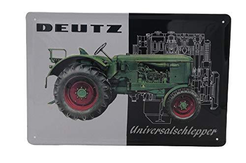 Mehr Relief-Schilder hier... DEUTZ Köln Universalschlepper Traktor Trecker Bulldog Landwirtschaft Blechschild-Werbung-Reklame-Retro-Marke-Schild-Magnet-Metallschild-Werbeschild-Wandschild