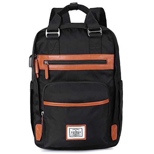 JOSEKO Unisex Backpack, Fashion School Backpack Teenager Daypack Laptop Backpack Pink
