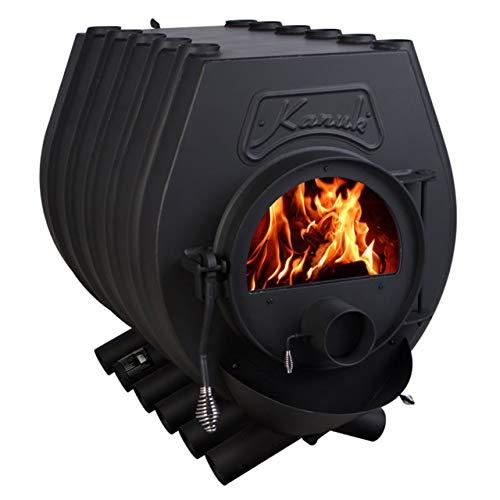 Warmluftofen Kanuk® 3 mit 22 kW & Herdplatte Werkstattofen Holzofen