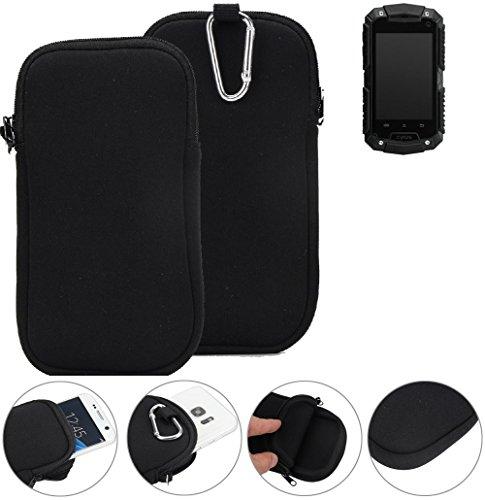 K-S-Trade® Neopren Hülle Für Cyrus CS 20 Schutzhülle Neoprenhülle Sleeve Handyhülle Schutz Hülle Handy Gürtel Tasche Case Handytasche Schwarz