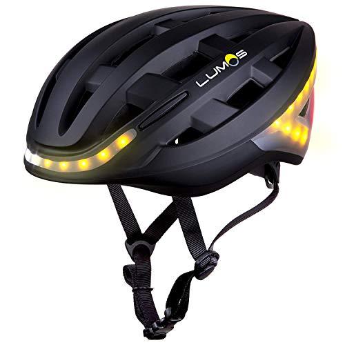 Lumos Kickstart bicicleta casco con intermitente, todas las estaciones, color negro mate, tamaño 54-62 cm