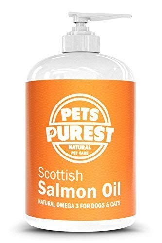Pets Purest 500ml Aceite de salmón escocés Premium 100% Natural. Sup