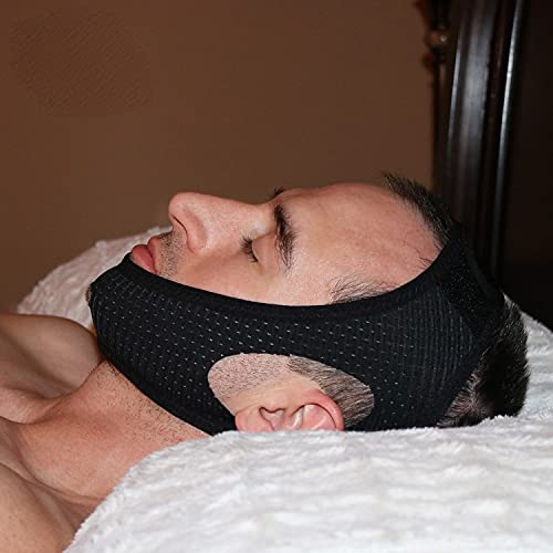 Chin Strap Snore Silencer | Anti-Dry Mouth Straps | Stop Noise | Snoreless Sleeping Solution for Men and Women | Breathing Aid for Snoring