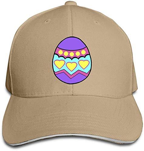 ZYZYY Berretto da baseball unisex con uovo di Pasqua regolabile con visiera