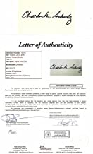 Charles Schulz Autographed Signed 3x5 Inch Index Card - Peanuts Snoopy Charlie Brown Creator - Artist - Full JSA Letter of Authenticity - Deceased 2000 - Charles M. Schulz