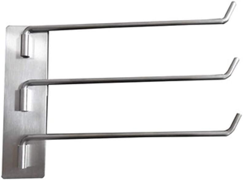 WOCAONIMA Stainless Steel 3-Arm Bargain Activity Super-cheap Wal Rotating Rack Towel