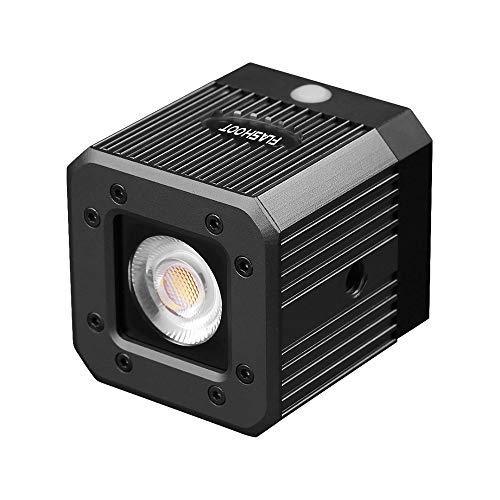 Zwbfu Cubo de aleación de Aluminio a Prueba de Agua Luz de Video LED 5600K Luz de Relleno de Buceo Flash estroboscópico con Orificio de Tornillo de 1/4 pulga para cámara Cámara