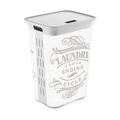 Laundry a Never Ending Cycle Laundry Hamper with lid (1, White)