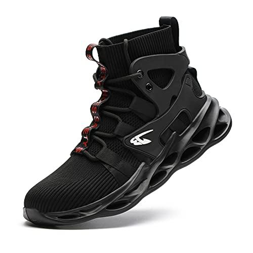 Chaussure de Securite Homme Legere et Confortable Chaussures de Travail avec Embout de Protection en Acier Bottes de Sécurité Chantier Femme
