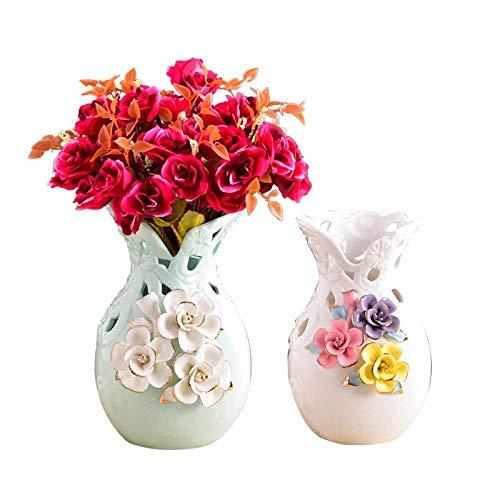 TELMU Dekoration Moderne Vase Asia Style Kleine frisch getrocknete Blumen Fake