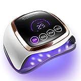 Gel UV LED Nail Lamp, 168W UV LED Nail Dryer for Gel Polish with 4 Timer Settings, Auto Sensor and...