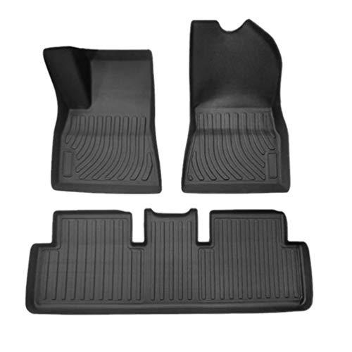 Para Tesla Model 3 2019 2020 Y 2020 5 Seats De Goma TPE Alfombrillas Para El Piso Del Coche Almohadillas Para Los Pies Alfombra Del AutomóVil Cubiertas
