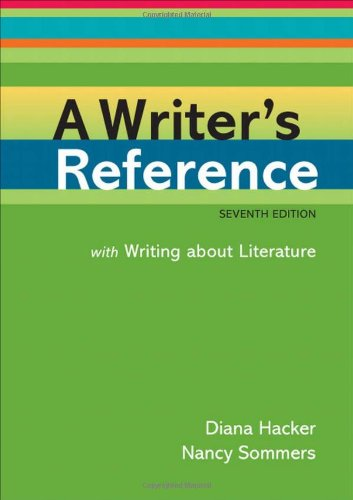 A Writer's Reference: With Writing About Literature