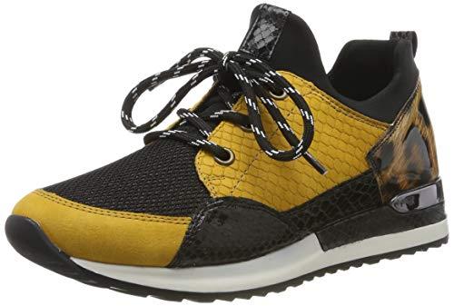 Remonte Damen R2503 Sneaker, Mehrfarbig (T6562/Schwarz/Schwarz/Schwarz/Natur 68), 36 EU