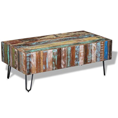 vidaXL Solid Reclaimed Wood Coffee Table Living Room Side End Accent Table