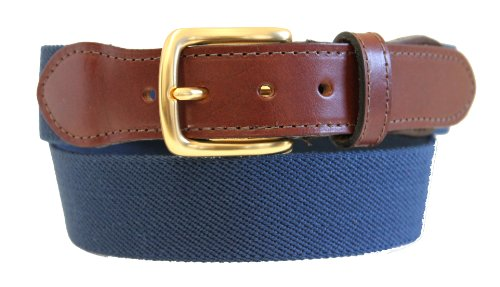 Thomas Bates Mens Elastic Surcingle Belt with Leather Tab made in the USA