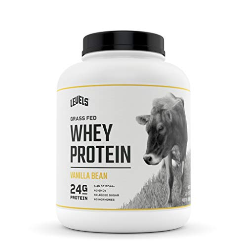 Levels Grass Fed 100% Whey Protein, No GMOs, Vanilla Bean, 5LB