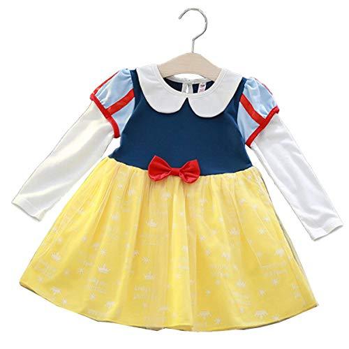 【 選べる 】monoii プリンセス ドレス 子供 雪の女王 アリス ちいさな お姫様 コスチューム キッズ ハロウィン 仮装 衣装 女の子 (120 CM 白雪姫)d302