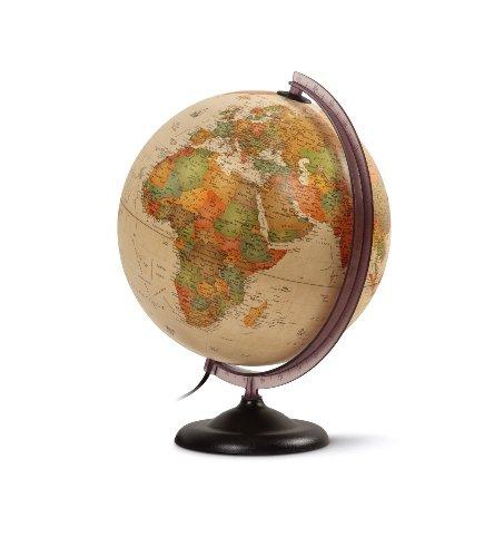 "WONDAY Globe terrestre lumineux 30 cm""First"" Antique"