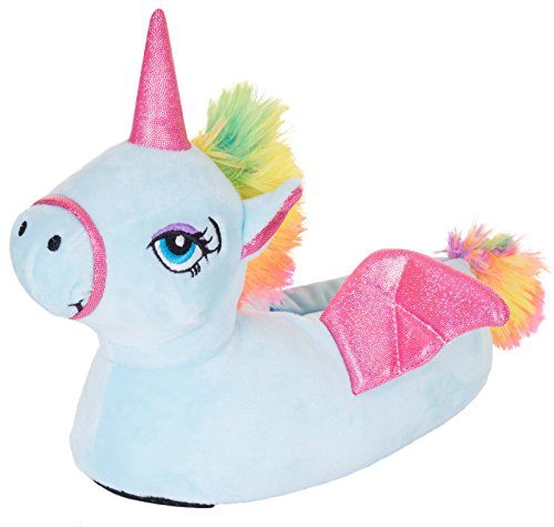 LD Outlet - Pantofole a forma di unicorno, taglia XL