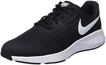Nike Kids' Grade School Star Runner Running Shoes (3.5, Black/White)