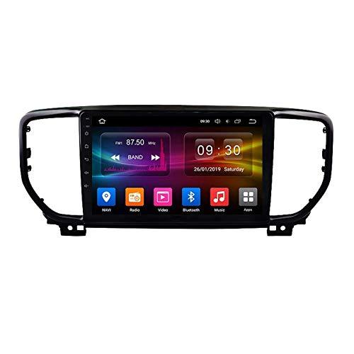MIVPD Autoradio Android 10.0 Radio per Kia Sportage 4 QL 2016-2018 Navigazione GPS unità Principale da 9 Pollici Touchscreen HD MP5 Lettore multimediale Video con WiFi DSP SWC Mirrorlink