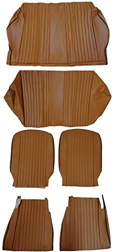Glac Store® 6 Pezzi Tappezzeria Come Originale Ecopelle Non Coprisedili per Fiat 500 L Colore Ocra su Misura Perfetta Artigianali Anteriori e Posteriori