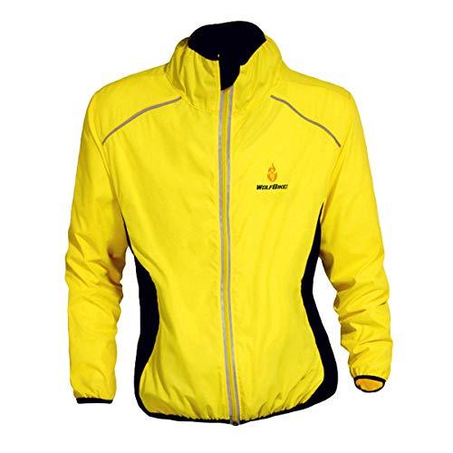 WOSAWE - Maglia da donna per equitazione e ciclismo, Donna, Giallo, US XXXL(Asian XXXL)