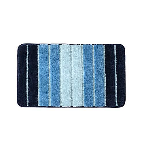 Demarkt 1pcs Rayure Bicolore Tapis de Bain Tapis de Sol pour Tapis Tapis de Sol Absorbant pour la Cuisine et la Salle de Bain (Bleu) 40 * 60cm