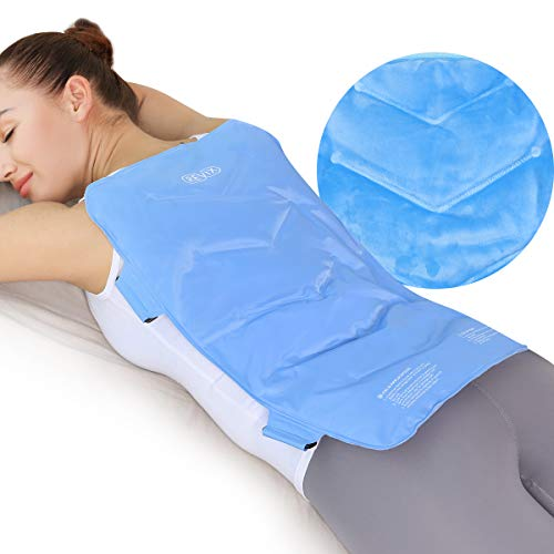 REVIX Full Back Ice Pack for Injuries Reusable Large Gel Ice Wrap for Back Pain Relief from Swelling, Bruises & Sprains by Cold Compression Therapy, XXL