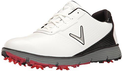 Callaway Men's Balboa TRX Golf Shoe, White/Black, 10 D US