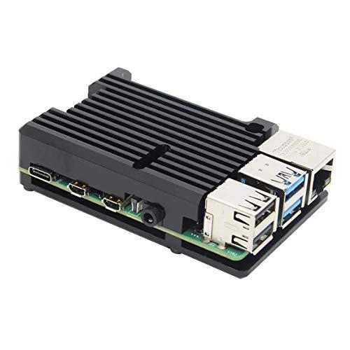 KoelrMsd para Raspberry Pi 4 Modelo CNC Carcasa de aleación de Aluminio Carcasa de Armadura de Metal con disipadores de Calor para Raspberry SIN Ventiladores
