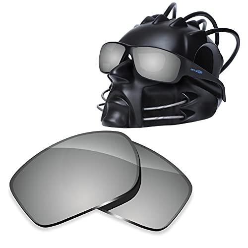 ToughAsNails Reemplazo de lente polarizada para Arnette Cheat Sheet AN4166 Sunglass - Más opciones, Cromado plateado., Talla única