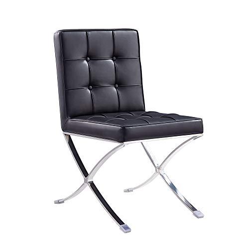 Vivol Barcelona (Nachbildung) – Kunstleder schwarz – Sessel für Schlafzimmer und Sessel für Wohnzimmer – erhältlich in 3 Farben