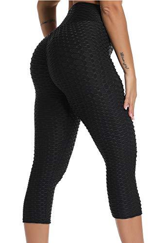 FITTOO Mallas 3/4 Leggings Mujer Pantalones Yoga Alta