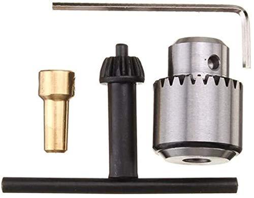 Auoeer Herramientas 0.3-4mm Micro Motor Talvo Pinza de sujeción con Llave y 1/8 Pulgadas Eje de conexión Barro de la Banda de Broca