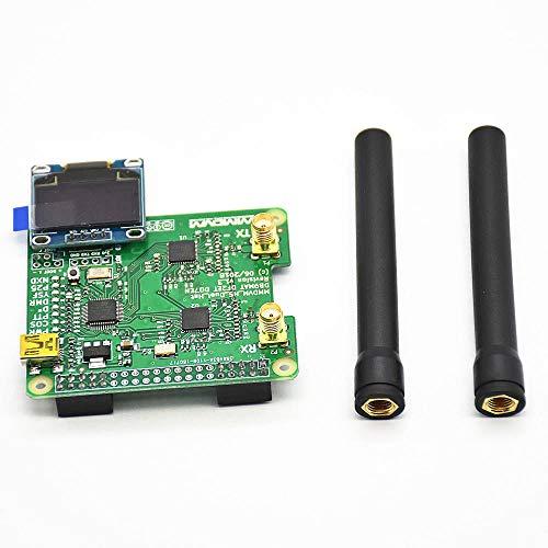 weichuang Elektronisches Zubehör HS Dual Hat Duplex Relais Erweiterungsmodul Board mit OLED-Bildschirm für RPi Elektronikzubehör Elektronikzubehör