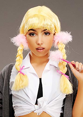 Magic Box Britney Spears Estilo Blonde Pigtail Peluca Trenzada