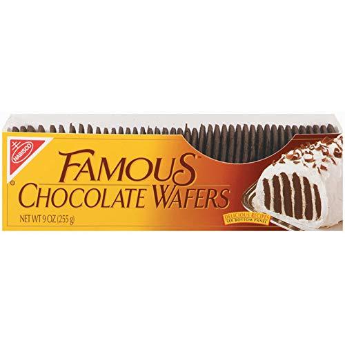 Nabisco Famous Chocolate Wafers, Holiday Christmas Cookies, 9 oz