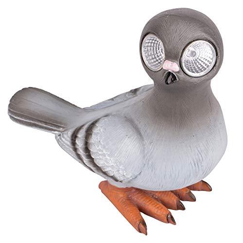RM E-Commerce LED tuinfiguur dier duif solar ogen groot, decoratie braden & huis