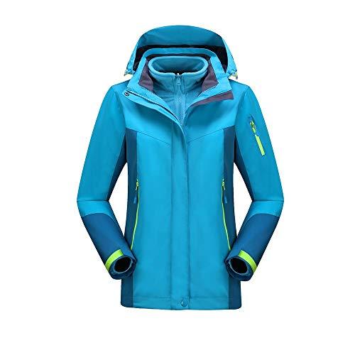 EYKELZGG Outdoor-DREI-in-one-Damen-Jacke, Insulated Skijacke (Color : C, Size : L)