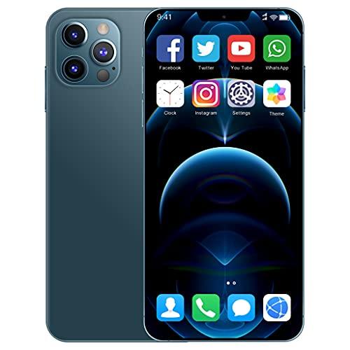 I12ProMax 4G Moviles Libres Barato, 6.7 Pulgadas Smartphone Libre Dual SIM, 4GB RAM+64GB ROM, 24MP+48MP, 5800mAh Teléfono Móvil Baratos y Buenos,Azul