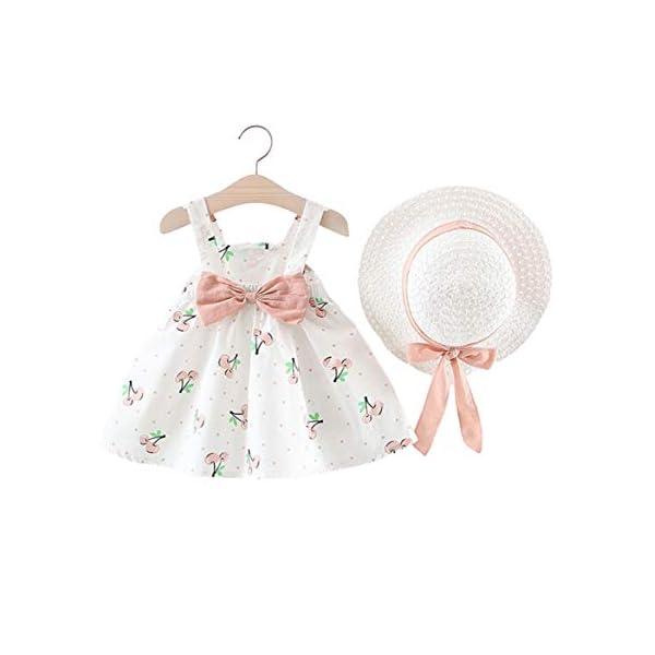CHUBBYBUN BABY Girl Sleeveless Summer Princess Bow Dress with Hat
