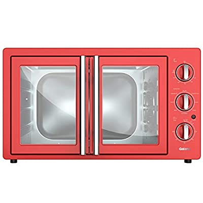 Galanz GRSK2A15RDMA18 French Door Toaster Oven with TotalFry 360(Enhanced Air Fry Technology) 1800W/120V, 1.5 Capacity, 8 Cooking Functions, 42L Manual, Hot Rod Red