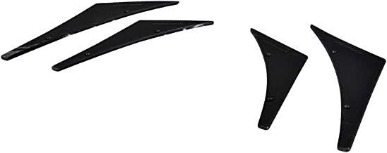 Front Bumper Lip Compatible With Universal | Unpainted Black PU Splitter Fins Body Spoiler Canards Valence Chin by IKON MOTORSPORTS