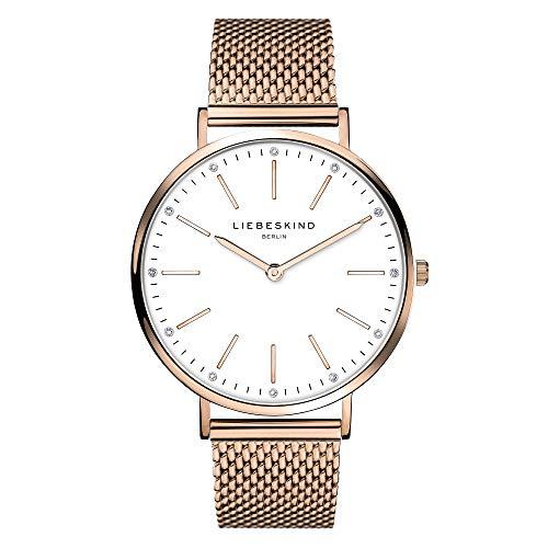 Liebeskind Berlin Damen Analog Quarz Armbanduhr mit Edelstahlarmband LT-0188-MQ